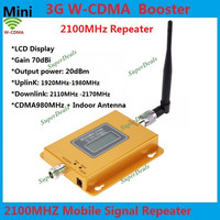 LTE UMTS 2100Mhz mobile signal repeater 3G Gain 75dB 3G Cellular signal Booster (HSPA) LTE WCDMA Signal Amplifier + antenna