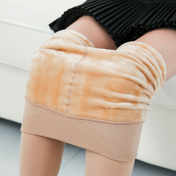 Warm Leggings for Women Cotton Slim Leggings Cashmere Foot Wear Elastic Pants Female Winter Leggings high waist pants Leggings morden style elastic slimming warm thicken cotton blend checked winters leggings for women