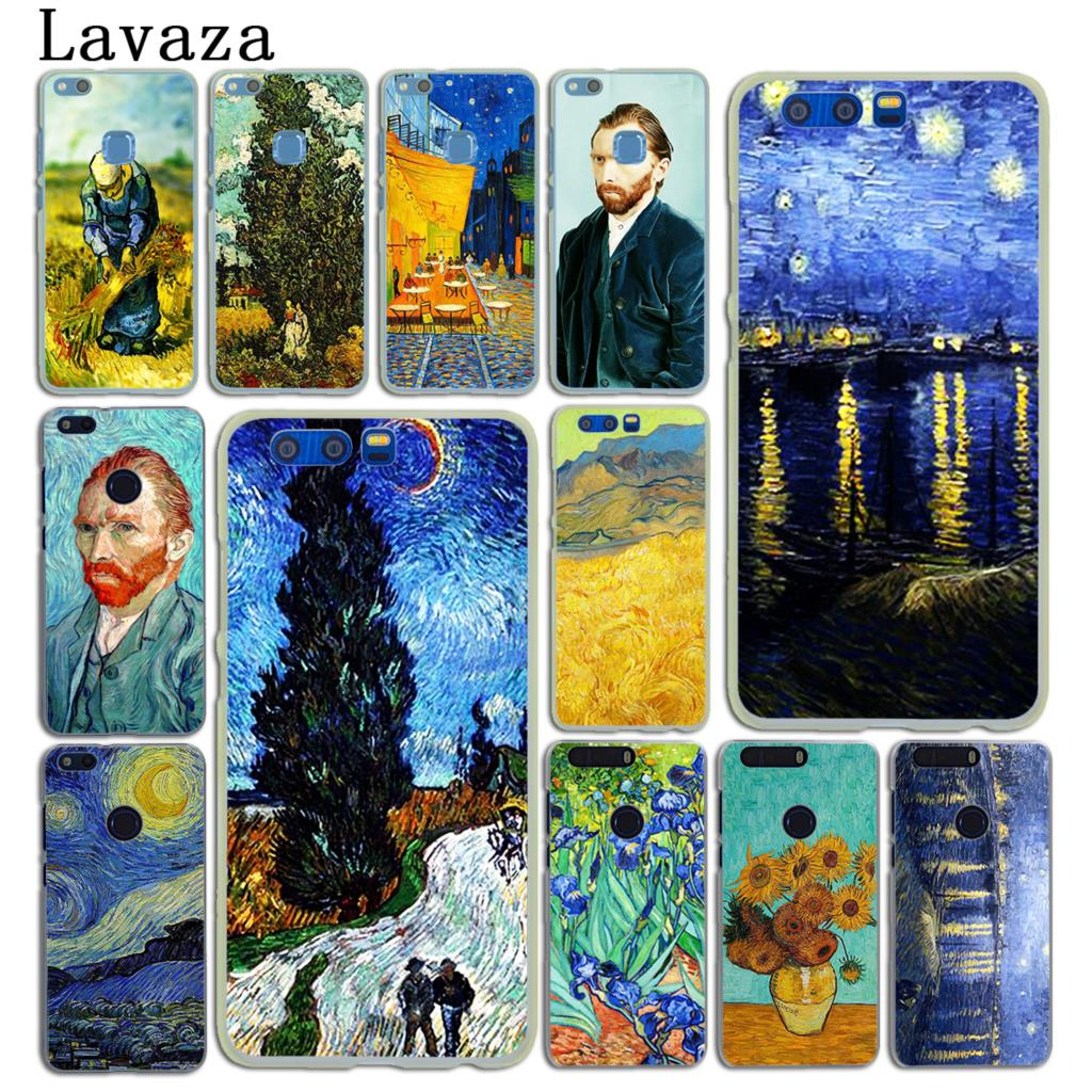 Lavaza Vincent Willem van Gogh Tardis Hard Case for Huawei Y6 Y5 Y3 II Y7 2017 Nova 2 2S 2i Plus & Honor 9 8 Lite 7 7X 6 6A 6X