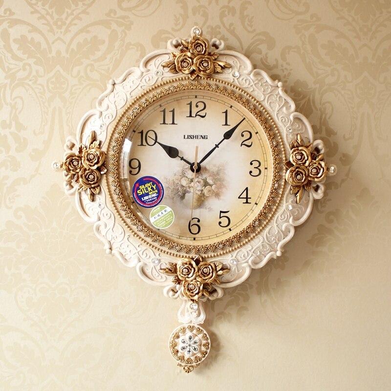 Montre Quartz Continental horloge murale salon ménage silencieux montre de poche créativité mode américain luxe horloge
