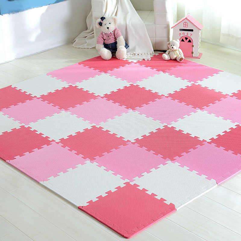 Meitoku bebek EVA köpük oyun bulmaca matı/18, 24or3 6/yeri egzersiz fayansları zemin halısı halı çocuk, her 32X32cm, 1cmThick