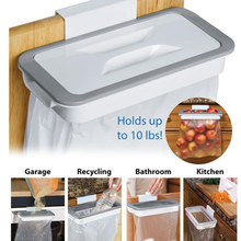Kitchen Cuisine Trash Holders Storage Rack Cupboard Bathroom Hanging Holder Cuisine Food Trash Container Kitchen Accessories 4(China)