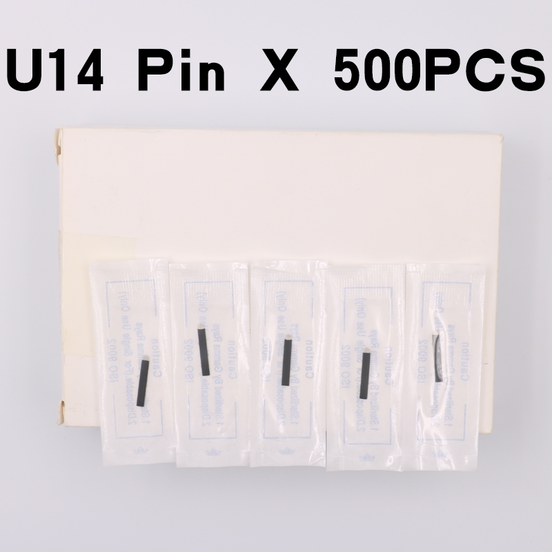 500pcs Black Microblading Needles 0.18mm U Shape 14 pins Blades Professional For Permanent Microblading Embroidery Pen500pcs Black Microblading Needles 0.18mm U Shape 14 pins Blades Professional For Permanent Microblading Embroidery Pen