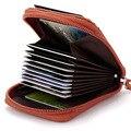 2016 moda Genuína Mulheres De Couro sacos de cartão de Banco Titular do Cartão de Crédito Do Titular Do Cartão Bolsa Saco de cartão de homens de negócios de alta qualidade