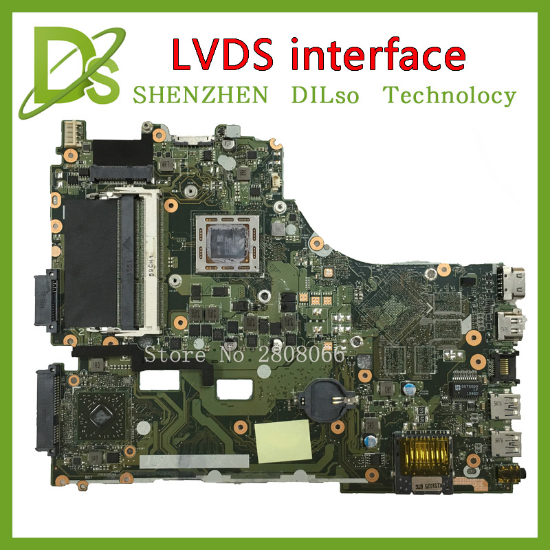 SHUOHU VM590Z For ASUS X550ZE X550ZA laptop motherboard X550ZE  mainboard rev2.0  LVDS interface Integrated 100% tested brand new pbl80 la 7441p rev 2 0 mainboard for asus k93sv x93sv x93s laptop motherboard with nvidia gt540m n12p gs a1 video card
