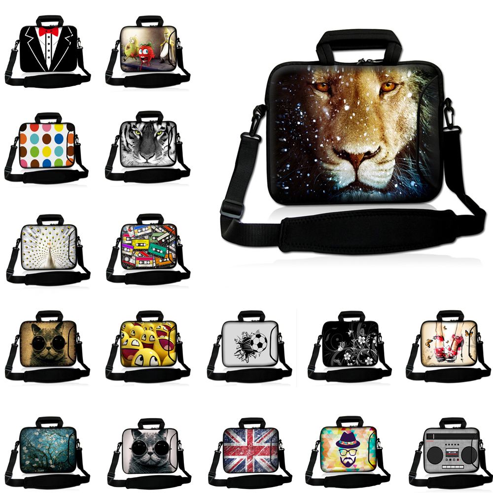 Shockproof Handle 10/12/13/14/15/17 inch Laptop Messenger Briefcase Computer Accessories Neoprene Bag <font><b>Funda</b></font> <font><b>Portatil</b></font> <font><b>15.6</b></font> Bolsas image