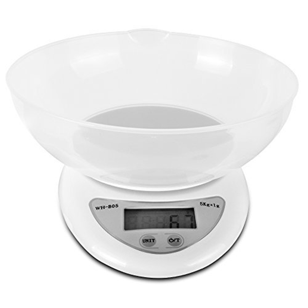 Digital Kitchen Food Weight Scale 11LB/5kg With Removable Bowl 66CY