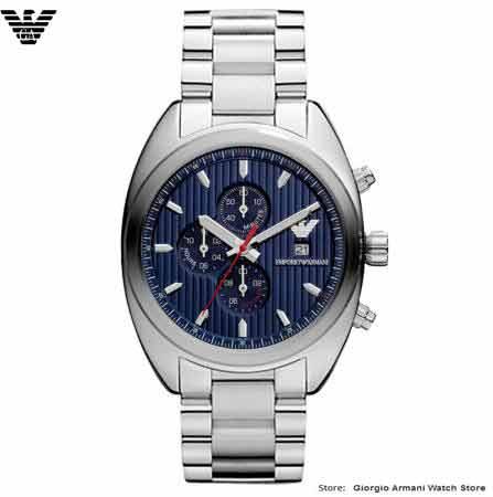 Envío gratis original Giorgio Armani moda azul flash tres - Relojes para hombres