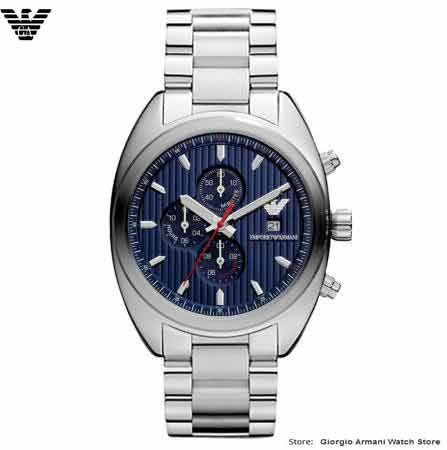 Free shipping original Giorgio Armani fashion blue flash three multi-functional diving quartz Armani mens watch AR5912 / AR5913