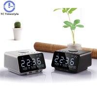 Creative Alarm Clock Wild Multifunctional Night Light Charging Bed Custom Ringtone Bluetooth Music Stereo Radio Electronic