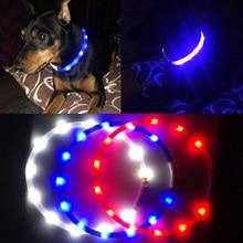 pet collar led lightOutdoor Dog Collars USB luminous USB charging Cat dog collar Teddy Night Flashing