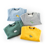 Tiny Baby Boys Winter T Shirt Children Clothing Kids Boys Long Sleeve Animal Embroidery Tops T