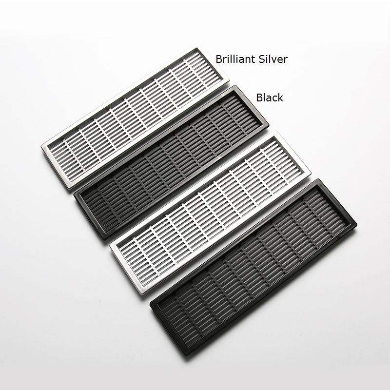 20Pcs/Lot Premintehdw  66*227mm Rectangle Plastic Air Vent Ventilator Grille Cover Ventilation For Closet Shoe Cabinet