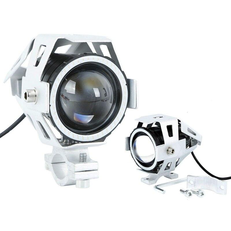 Prix pour 2 PCS Auto Moto LED Phare U7 LED Feu De Brouillard Avant Spot Lumière DRL Projecteur avec angle yeux Cercle