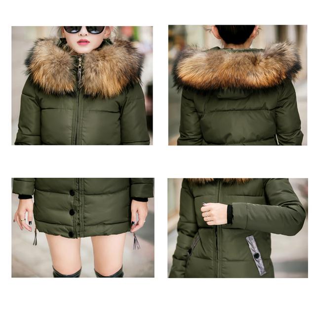 2017 fur collar plus size 3XL women winter hooded coat female outerwear parka ladies warm long jacket slim jaqueta feminina