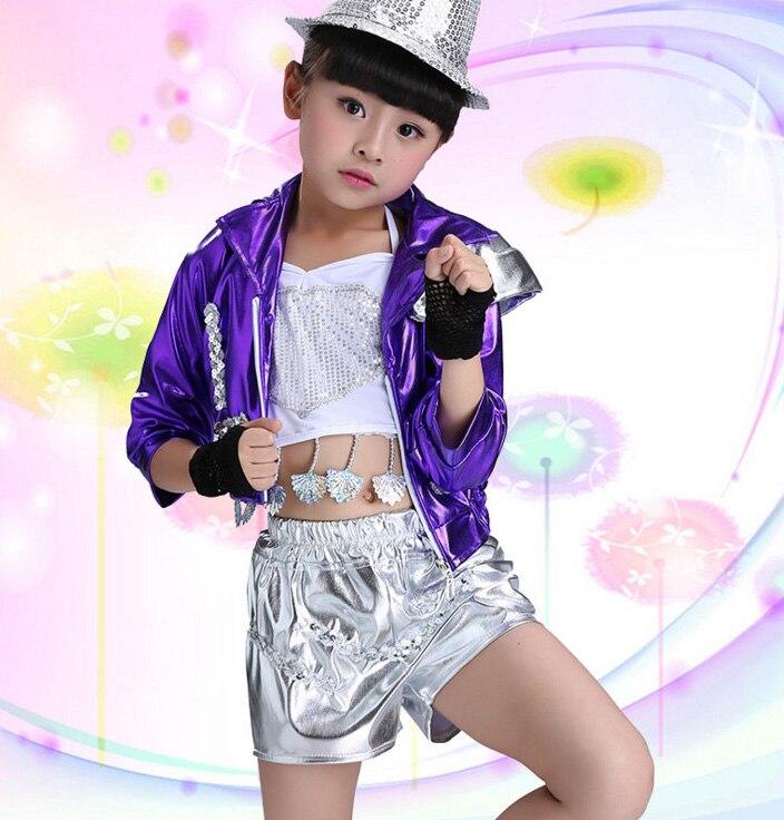 Niñas niños Modern Jazz Dance Hip Hop Trajes de Competencia de Baile ...