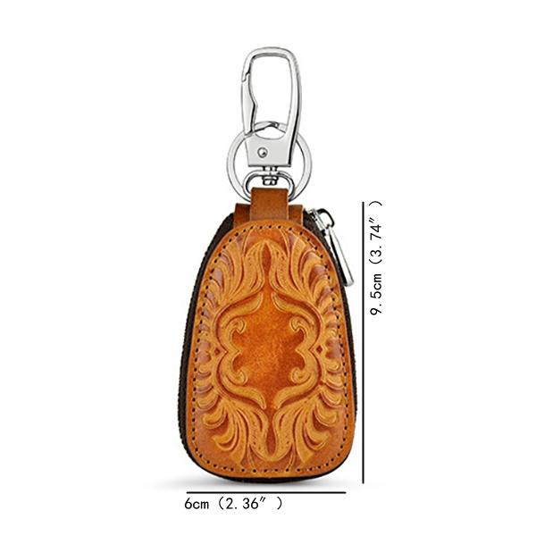 HTB1C0RIKxSYBuNjSspjq6x73VXaZ - Osmond Men Women Genuine Leather Car Key Holders Housekeeper For Men Retro Multifunctional Home Keychain Case Female Key Wallet