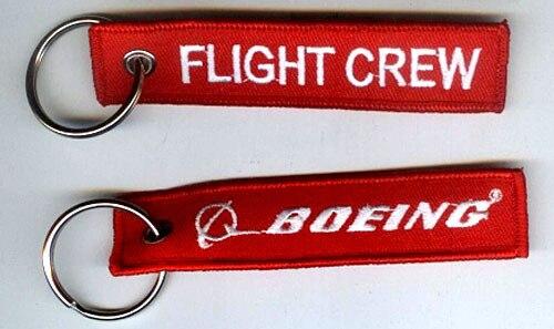 Кольцо для ключей с вышивкой Boeing Flight Crew - Название цвета: RBF Red