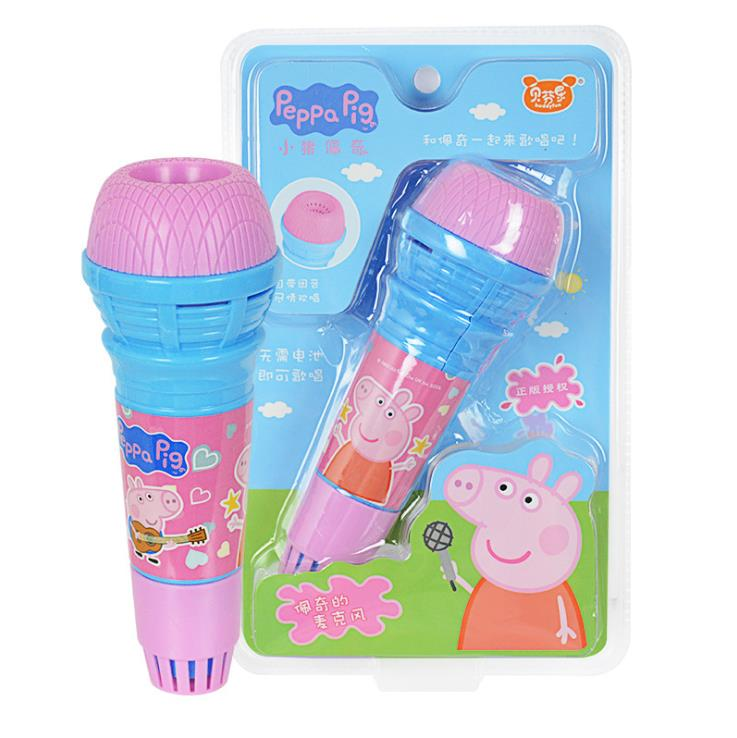 Hot Sale 19cm Genuine Peppa Pig Cute Microphone For Children Cartoon Toy Kids Children's Echo Microphone Kids Toy Gift Original