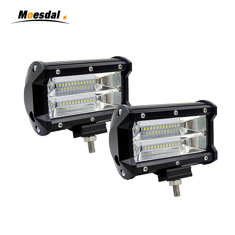 5 Inch 72W 6000K led work bar light Waterproof Durable Modified Auto Car Light lamps 12v cree Headlight Bars for Pickup Wagon waterproof 72w 4300lm 6000k 24 led white light car work project diy light bar dc 10 30v