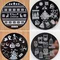 4pcs Christmas Halloween Owl 4 Design Stainless Steel Nail Plates Nail Art Image Konad Print Stamp Stamping  Manicure Template