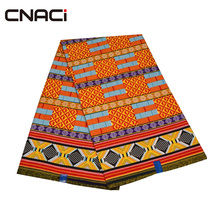 CNACI Kente Ткань 2018 Новый Дизайн Гана восковой печати ткань 6 метров Лидер продаж Гана Kente Африки в реальном Воск для печати ткань