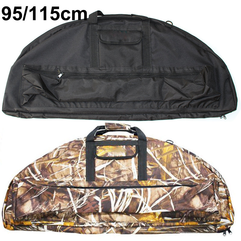 95cm 115cm Compound Bow Bag Archery Padded Layer Foam Bow Case Holder Arrow Tube Protect Hunting