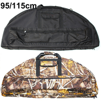 95cm 115cm Compound Bow Bag Archery Padded Layer Foam Bow Case Holder Arrow Tube Protect Hunting Shooting Portable Bag Accessory