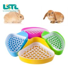 Useful Pet Cat Rabbit Pee Toilet Small Animal Hamster Guinea Pig Litter Tray Corner Training free shippingd25