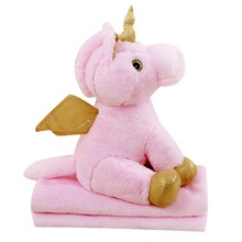 Dual Purpose Soft Unicorn Plush Toy With A Blanket Cushion Pillow Appease Placating Plush Toy Doll For Children все цены