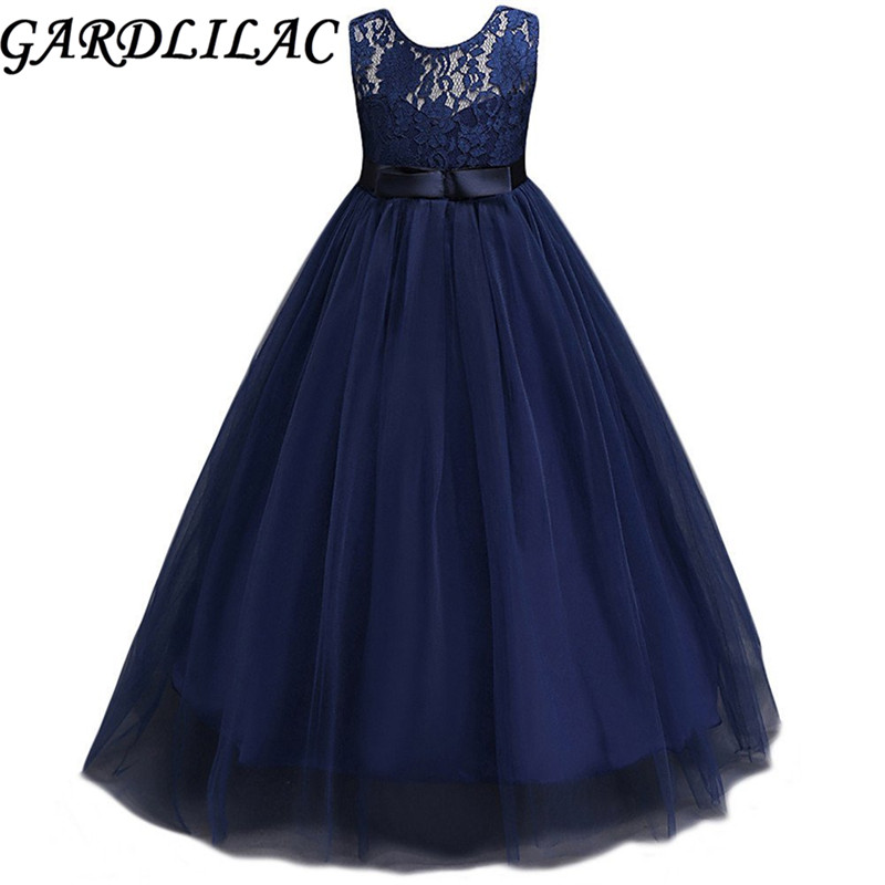 tulle scoop bow ball gown Flower Girl Dress first communion girls ...