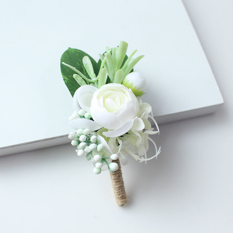 wedding boutonniere corsage groom  (26)