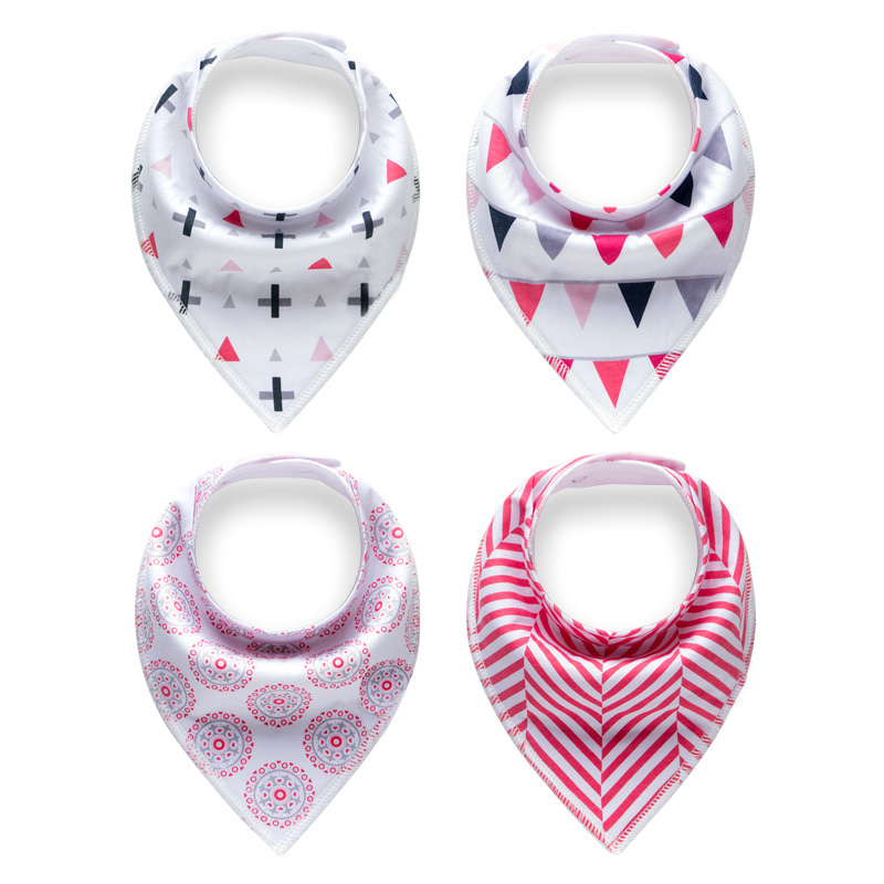 Muslinlife Fashion Flower Pattern Baby Bibs Cotton 4pcs/set Bandana Bibs Baby Burp Cloths Bandana Bibs Newborn Triangle Infant bandana husky bandana