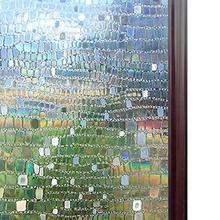 Decorative Privacy Window Film 3D Static Glass Sticker Semi-transparent Office for Room