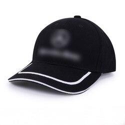 قبعة بيسبول جديدة لعام 2019 للرجال من موديلات مرسيدس-بنز مزودة بشعار قبعة للآباء قبعة سوداء قابلة للتعديل لعظام غير رسمية