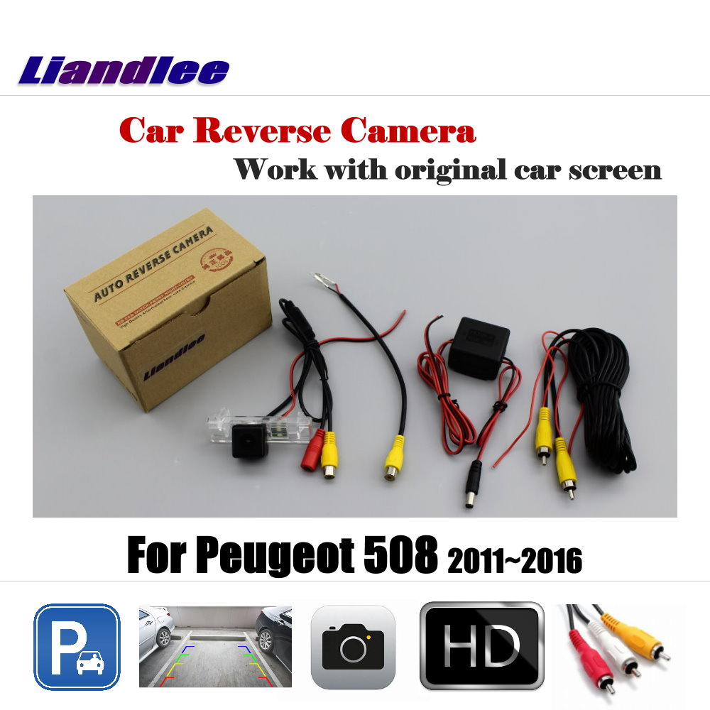 Liandlee For Peugeot 508 2011 2016 Display Car Rear View Back Backup Camera Rearview Reverse Reversing