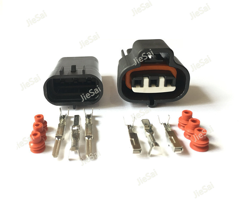 3 Pin 6189-0099 Female Male Connector For VSS <font><b>Toyota</b></font> <font><b>1JZ</b></font> <font><b>2JZ</b></font> Map Sensor 90980-10841 Vacuum Turbo Pressure Auto Plug LX13 image