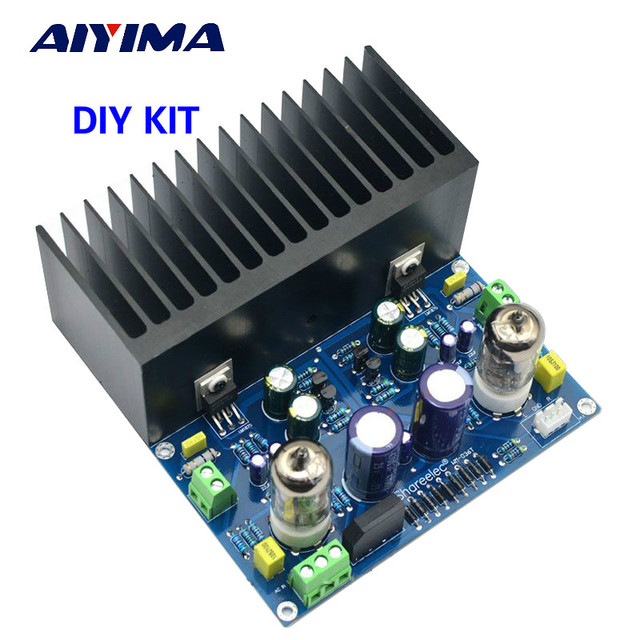 US $24 42 15% OFF|AIYIMA 25W*2 Tube Amplifier Board Amplificador Fever  6J1+LM1875 Vacuum Tube 2 0 Stereo Audio Amplifier Board Diy Kit -in  Amplifier