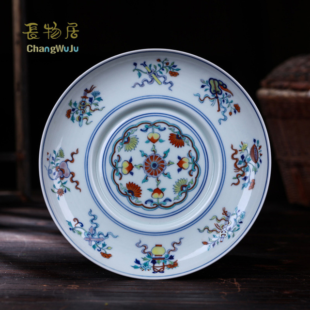 Changwuju in Jingdezhen Dishes u0026 Plates Hand painted bule and white clashingcolor table ware Handmade porcelain & Changwuju in Jingdezhen Dishes u0026 Plates Hand painted bule and white ...