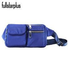 Gute Qualität Importierte nylon Tasche Taille Packs Frauen Casual Mädchen Tasche Aus Mini Taille Paket Casual Mini Messenger Bags
