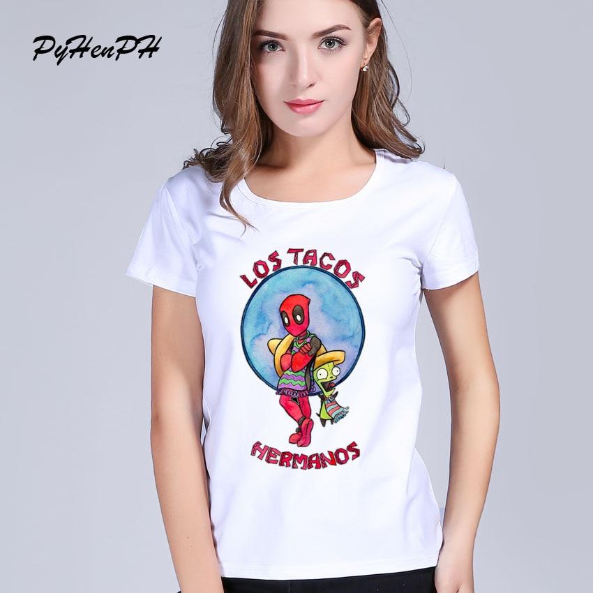 PyHenPH 2017 New Lostacos Hermanos Printed T Shirt Women Funny Pikachus Brother Design Tee Shirt Homme Summer Slim Girl T-shirt thumbnail