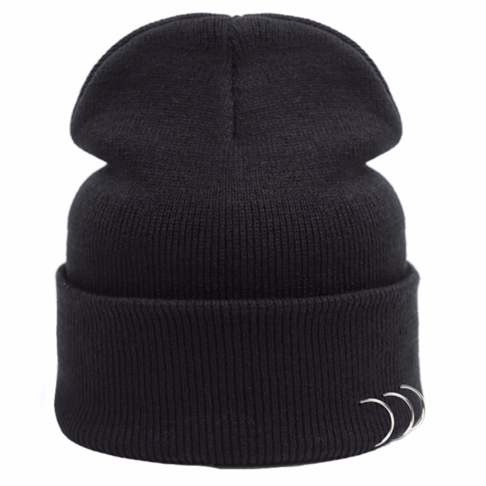New Winter Knitted Hat Women's Casual Hats Caps with three rings Men Women Beanie men s skullies winter wool knitted hat outdoor warm casual solid caps for men caps hats