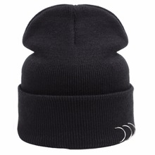 New Winter Knitted Hat Women's Casual Hats Caps with three rings Men Women Beanie