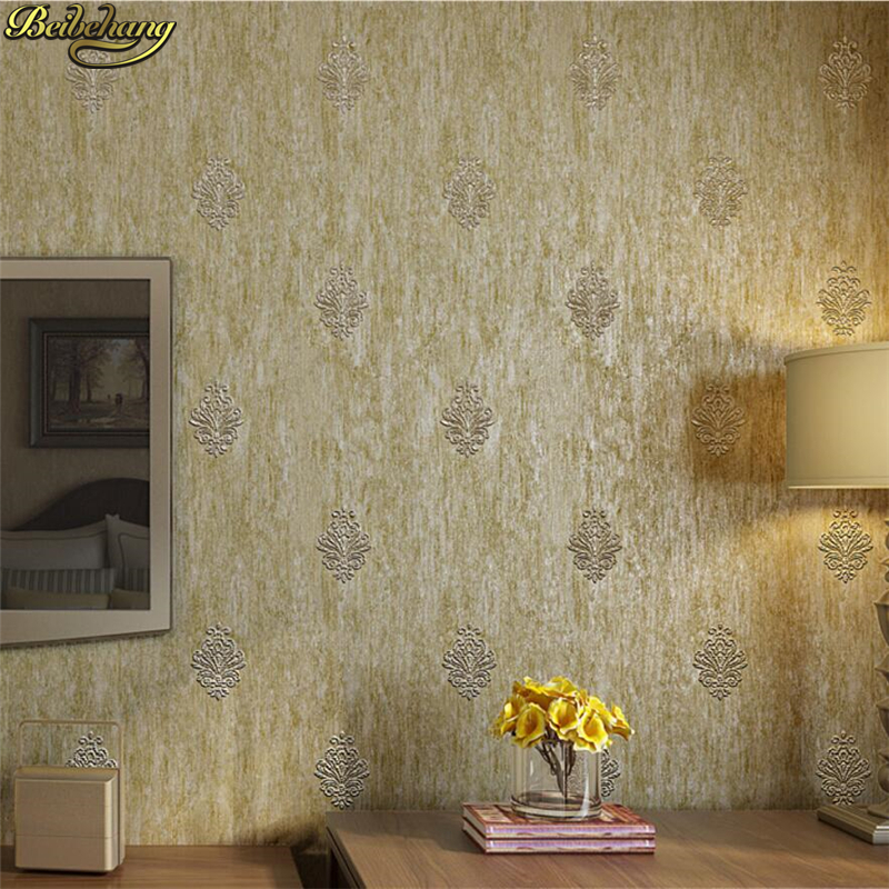 beibehang European retro Jane simple nonwoven 3D wallpaper living room elderly room TV background wall paper papel de parede