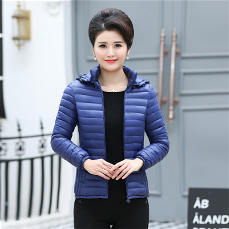 2019 new winter   jacket   women autumn hooded Coat Female Spring   Jacket   Women Padded cotton Parkas Casual Thin light   Basic     Jackets