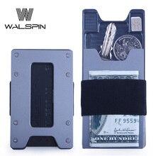 Aluminum Minimalist Slim Wallet for Mens & Women Metal Front