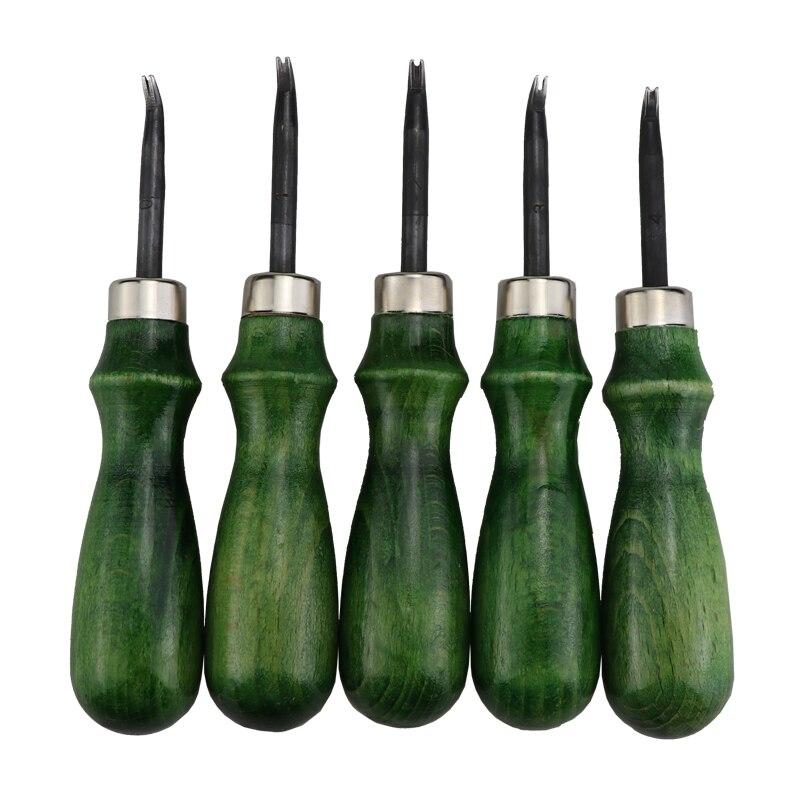 kit de manualidades de cuero de madera accesorios de bricolaje Quemador de cuero de madera cortador de molienda herramientas de pulido de cuero para manualidades