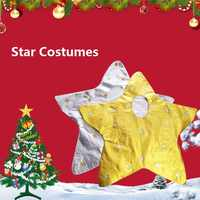 Children Silvery Gold Star Costume Boys&Girls Stage Costume Performance Tiny Spot Cosplay Sparkling Clothes