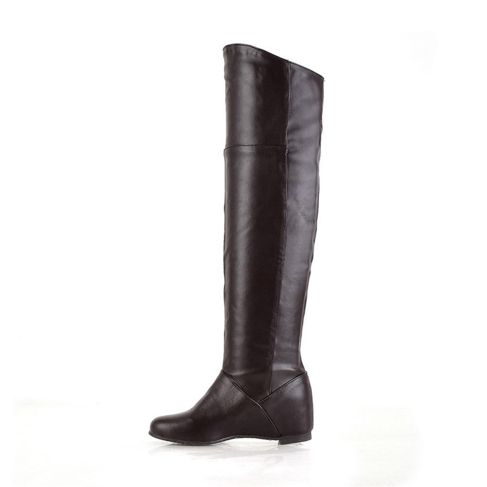 50 La Nuevo Rodilla blanco Altas Mujer Invierno Negro Sarairis Zapatos 30 Remache Hebilla Tamaño Primavera Metal Casual Plus De Botas Cinturón Fiesta Decoración marrón fwqTpItq