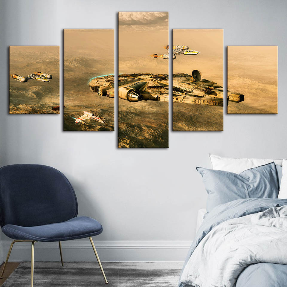 Canvas Poster Home Decorative Modern Star Wars Print Paintings Movie Modular Wall Art Landscape Picture Artwork For Living Room image